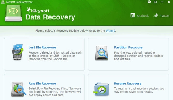iSkysoft Data Recovery for Windows