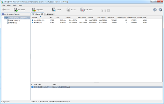 active file recovery corporate portable
